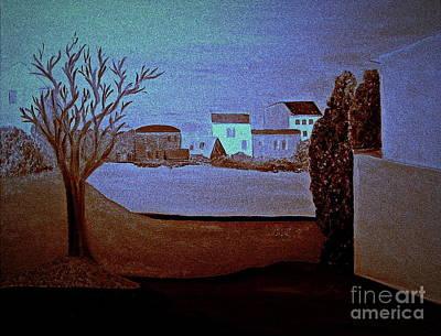Painting - full moon in Italy  bill oconnor by Bill OConnor