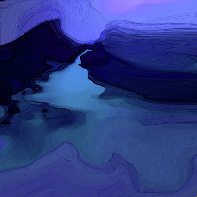 Digital Art - Midnight Blue by Gina Harrison