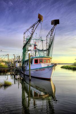 Oyster Photograph - Midnight Blues On The Bayou by JC Findley