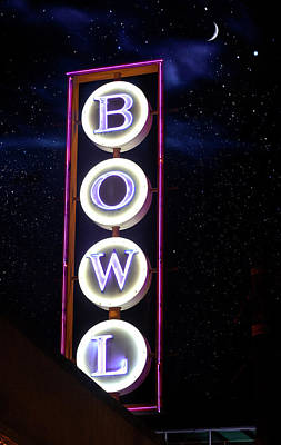 Hollywood Bowl Photograph - Midnight Bowling by Mark Andrew Thomas