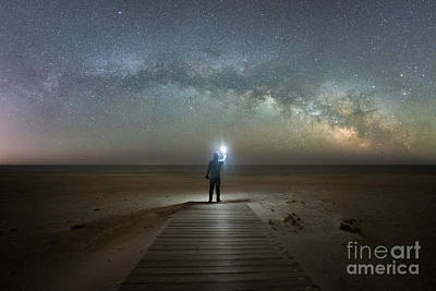 Surrealism Royalty Free Images - Midnight Explorer at Assateague Island Royalty-Free Image by Michael Ver Sprill