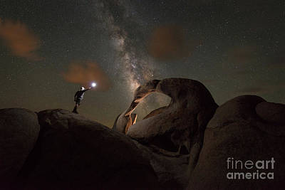 Photograph - Midnight Explorer At Mobius Arch  by Michael Ver Sprill