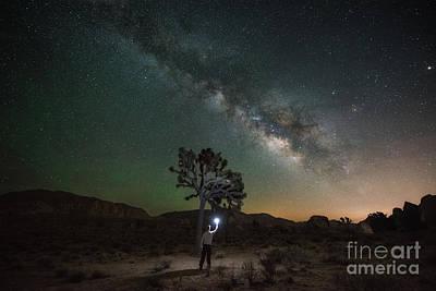 Michael Versprill Photograph - Midnight Explorer Finding Joshua Tree  by Michael Ver Sprill