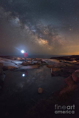 Eastcoast Lighthouses Photograph - Midnight Explorer Mirror Finish by Michael Ver Sprill