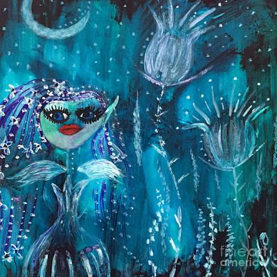 Painting - Midnight Fairy by Julie Engelhardt