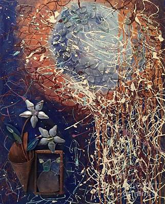 Painting - Midnight Flowers by Gallery Messina