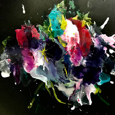 Painting - Midnight Flowers by Tommy McDonell