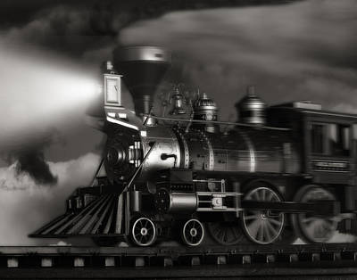 Sepia Tone Photograph - Midnight Flyer by Tom Mc Nemar