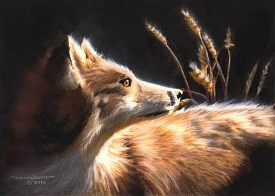 Painting - Midnight Fox by Melissa Herrin