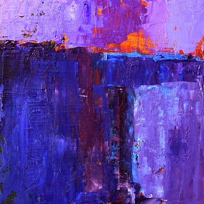 Painting - Midnight Glow Abstract by Nancy Merkle