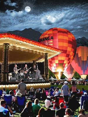Balloon Fiesta Painting - Midnight Glow by Ron Chambers