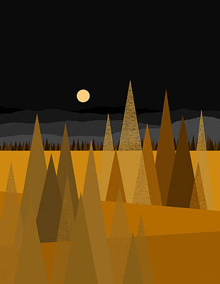 Digital Art - Midnight Gold by Val Arie