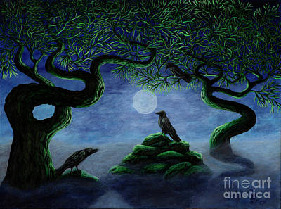 Painting - Midnight Green by Rebecca Parker