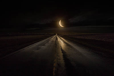 Photograph - Midnight Highway by Aaron J Groen