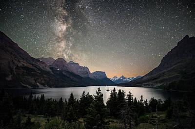 Apgar Photograph - Midnight In Glacier National Park by Matt Hammerstein