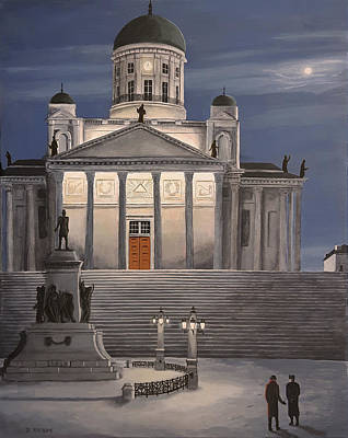 Painting - Midnight In Helsinki by Dave Rheaume