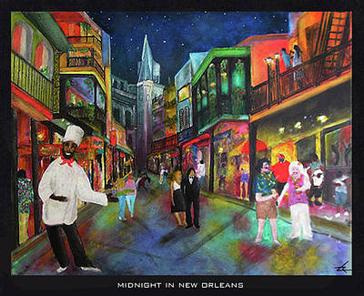 Midnight In New Orleans Art Print