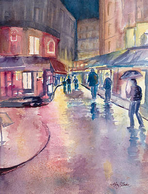 Painting - Midnight In Paris by Mary Benke