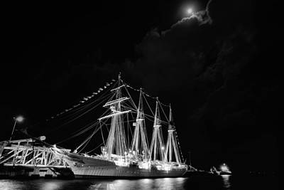 Sebastian Florida Photograph - Midnight In Pensacola Black And White by JC Findley