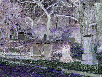 Photograph - Midnight In The Graveyard by D Hackett