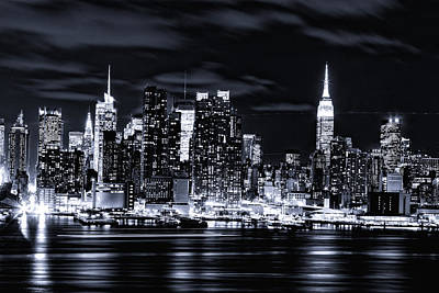 Photograph - Midnight Lights Of Manhattan by M Nuri Shakoor