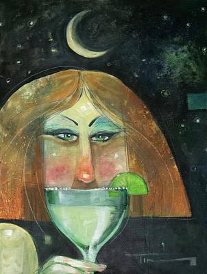 Midnight Margarita Art Print
