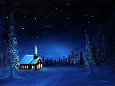 Painting - Midnight Monastery by Lori Grimmett