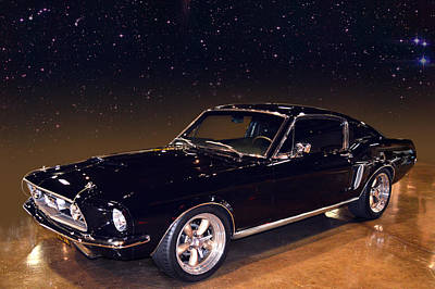 Photograph - Midnight Musclestang by Bill Dutting