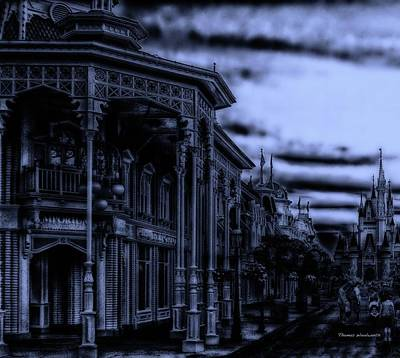 Surrealism Photograph - Midnight On Main Street Disney World Mp by Thomas Woolworth