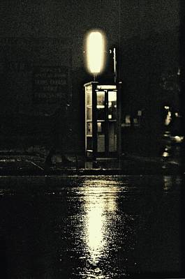 Photograph - Midnight Phone Booth by Brian Sereda