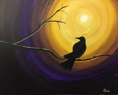 Midnight Raven Art Print