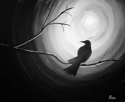 Midnight Raven Noir Art Print