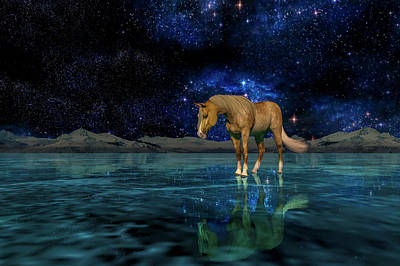 Palomino Horse Photograph - Midnight Religion  by Betsy Knapp