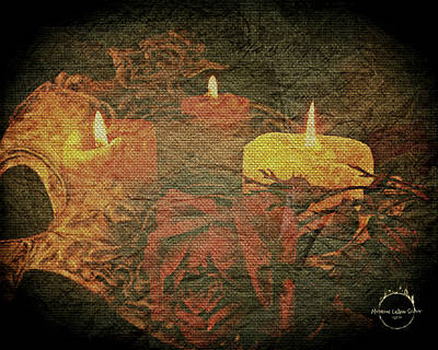 Digital Art - Midnight Romance Magic - Gold by Absinthe Art By Michelle LeAnn Scott