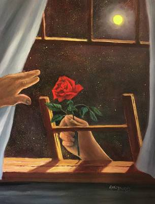 Painting - Midnight Romance. Romance De Medianoche by Randy Burns