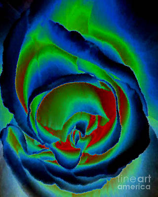 Diane Berry Painting - Midnight Rose by Diane E Berry