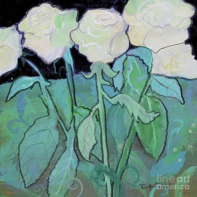 Mixed Media - Midnight Roses  by Robin Maria Pedrero