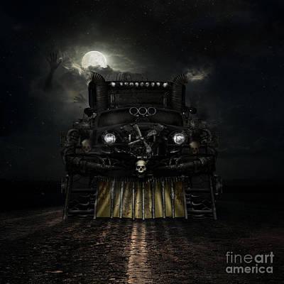 Transportation Digital Art - Midnight Run by Shanina Conway