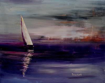 Midnight Sail Art Print by Beth Maddox
