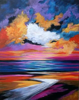 Painting - Midnight Sky by Rosie Sherman