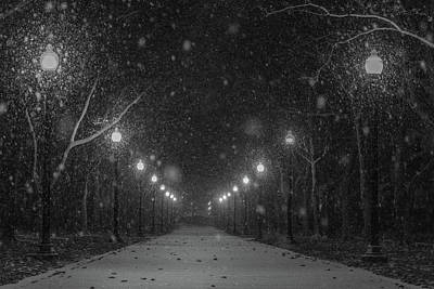 Photograph - Midnight Snow Storm by Pravin Sitaraman
