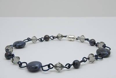 Wire Wrap Bracelet Jewelry - Midnight Stars by Jerri Nielsen