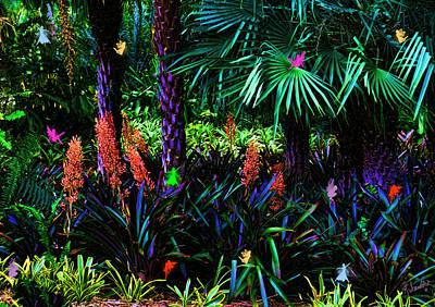 Fantasy Tree Mixed Media - Midnights Summer Dream by Rosalie Scanlon
