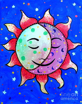 Painting - Midnight Sun And Moon by Pristine Cartera Turkus
