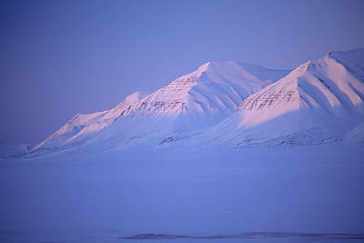 Sunset In Norway Photograph - Midnight Sunset On Polar Mountains by Gordon Wiltsie
