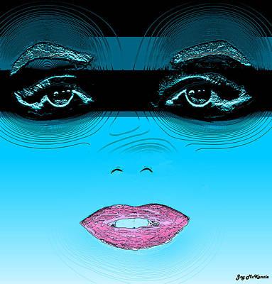 Midnight Swim Art Print by Joy McKenzie