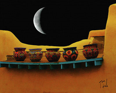 Digital Art - Midnight Taos by Terry Fiala
