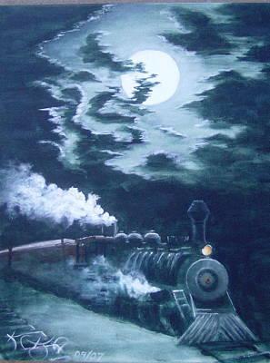 Midnight Train Art Print by KC Knight
