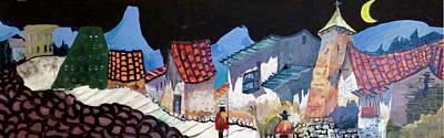 Midnight Walk In Peru Art Print