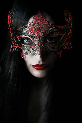 Masks Photograph - Midnight by Cambion Art